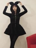 (Pre-order)ชุดกระต่าย Rabbit Skirt สีดำ