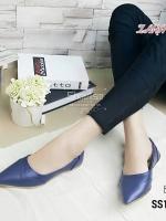 1055) คัชชู Zara ขอบทอง ยอดนิยม งานขายดี