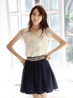 (พร้อมส่ง)เสื้อแขนสั้น Korean version ไชส์ L