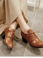 (Pre-order)รองเท้าหนังสีน้ำตาล