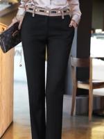 กางเกงขายาวสีดำแฟชั่น
