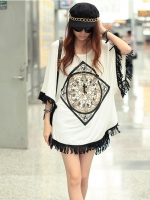 (Pre-order)เสื้อฮิปบูสไตล์เกาหลีสีขาว