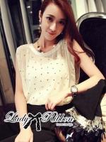 Lady Ribbon's Made Lady Ceci Sexy Embellished Chiffon Jumpsuit