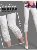 (พร้อมส่ง 20/05/58)กางเกงสกินนี่สีขาว