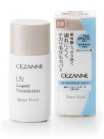 CEZANNE UV Liquid Foundation WaterProof SPF26 # No.20 Ochre