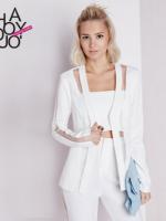 เสื้อสูทผู้หญิงสีขาวแฟชั่น