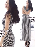 Cliona Made N2 Design Square print Dress By Dint Korean Style