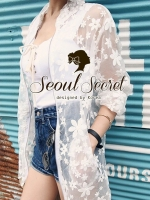 Chic White Bloom Organdy Outer by Seoul Secret