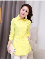 (Pre-order)เสื้อยาวคอปกสีเหลือง