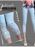 (Pre-order)กางเกงสกินนี่สีฟ้าอ่อน