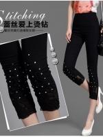 (พร้อมส่ง)กางเกงสกินนี่สีดำ