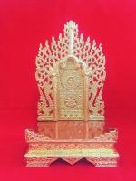 แท่นพระพม่าทรงสูง 12 นิ้ว (ทองล้วน)