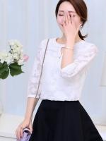 (Pre-order)เสื้อแขนยาวผ้าชีฟองสีขาว