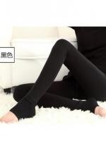 (Pre order)กางเกงเลคกิ้งข้างในบุขนภายในสีดำ