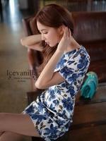 Romantic blue floral Dress