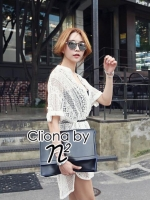 Casual White Lace Cover Shirt