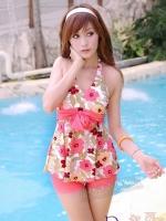 ชุดว่ายน้ำวันพีชลายดอกไม้น่ารักๆ พร้อมส่งไซส์ M,L,XL