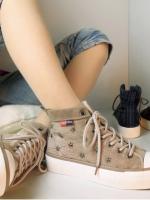 รองเท้าผ้าใบหุ่มข้อเท่ห์ๆ