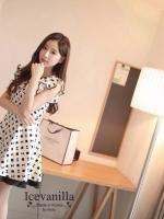 Romantic black&white graphic Dress style korea