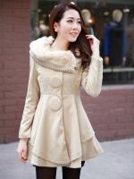 (Pre-order)เสื้อโค๊ช ขนมิ้งกันหนาวและหิมะ อุ่นมาก สีครีม