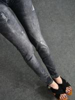 (พร้อมส่ง)กางเกงแล็คกิ้งสีดำ