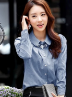 เสื้อแขนยาวผ้าชีฟองเกาหลี