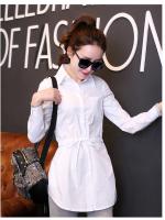 (Pre-order)เสื้อยาวคอปกสีขาว