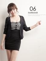 (Pre-order)เสื้อคลุมแฟชั่นเกาหลีสีดำ