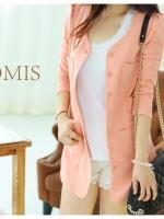 (Pre order)เสื้อสูทสีชมพู