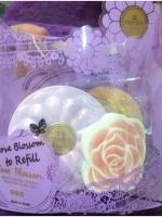 **หมด** Bisous Love Blossom Arbutin Peptide Vitamin C Miracle White Two Way Cake พร้อมรีฟิว #No.1 สำหรับผิวขาว