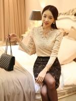 (พรีออเดอร์)เสื้อเจ้าหญิง Pricess แสนสวยสีแอพพิคอท