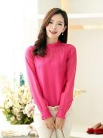 (Pre-order)เสื้อคอตั้ง Lady Princess สีชมพู