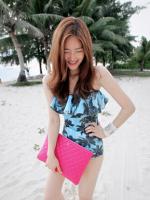 ชุดว่ายน้ำวันพีชเกาะอกแฟชั่น