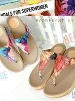 222)งานรองเท้าสุขภาพ ลาย Tropicana สีสันสดใส ชนชอป ขายดีฝุดๆ Tropicana งานชนชอปเมกา