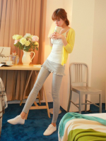 กางเกงเลคกิ้งกระโปรงระบาย มี 2 สี