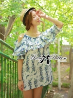 Lady Ribbon's Made Lady Paully Blooming Bouquet Cut-Out Dress