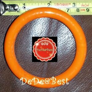 BR3:2nd hand Bracelets กำไลข้อมือหยกย้อมสีส้ม