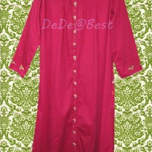 ขายแล้วค่ะ D34:Vintage dress เดรสวินเทจสีแดงกุหลาบปักลายดอกไม้&#x2764