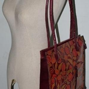 ขายแล้วค่ะ B5:Vintage leather bag กระเป๋าหนังแท้ ตอกลายสวย&#x2764