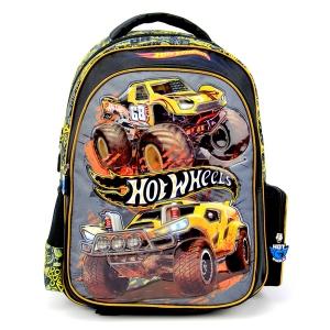 """กระเป๋าเป้ Hot Wheel สีเหลือง-ดำ 16"""""""
