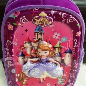 """กระเป๋าเป้ Princess Sofia ลายเจ้าหญิงโซเฟีย เป็นลายนูน 3D 16"""" ใบใหญ่ มีช่องใส่ขวดน้ำทั้งสองข้าง ราคาพิเศษ 690 บาท"""