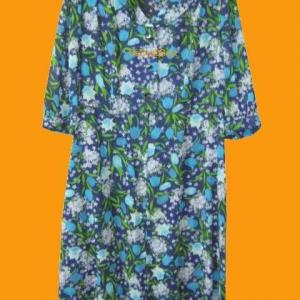 ขายแล้วค่ะ D33:Vintage dress เดรสวินเทจลายดอกไม้พร้อมเข็มขัด&#x2764