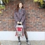 [ พร้อมส่ง ] - กระเป๋าเป้ Doughnut Macaroon Hong Kong canvas backpack #GREY X WINE thumbnail 6