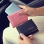 [ พร้อมส่ง ] - กระเป๋าสตางค์แฟชั่น สไตล์เกาหลี ใบเล็ก หนังนิ่มน้ำหนักเบา พกพาสะดวก แบบ 3 พับ กระดุมปิด thumbnail 2