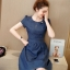 Denim Dress ชุดเดรสยีนส์ แขนสั้น thumbnail 1
