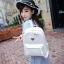[ Pre-Order ] - กระเป๋าเป้แฟชั่น สไตล์เกาหลี สีขาวสะอาด ให้ลุคคุณหนู ฉลุลายดอกไม้ทั้งใบ ดีไซน์สวยหรู สาวหวานห้ามพลาด thumbnail 1