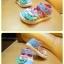 รองเท้าคัชชูผ้าเด็กเล็ก สีฟ้าชมพูหวาน Kitty (เท้ายาว 11-14 ซม.) thumbnail 3