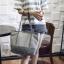 [ พร้อมส่ง ] - กระเป๋าแฟชั่น สีเทาเข้ม ทรง Shopping Bag ใบใหญ่ ดีไซน์สวยเรียบเก๋ งานหนังอย่างดีคุ้มค่าเกินราคา thumbnail 1