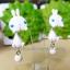 ต่างหูดินปั้น กระต่ายสีขาว Bunny white Earrings thumbnail 3