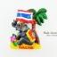 แม่เหล็กติดตู้เย็น ลวดลายช้างนั่งชูธงชาติไทยใต้ต้นมะพร้าว วัสดุเรซิ่น ชิ้นงานปั้มลายเนื้อนูน ลงสีสวยงาม thumbnail 1